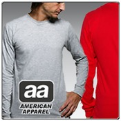 American Apparel Fine Jersey Long Sleeve T-Shirt