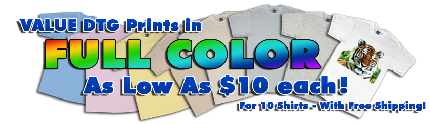 Full color custom t-shirts, fast and cheap